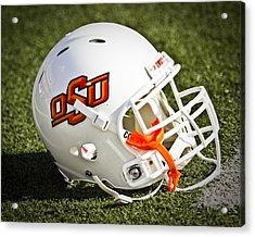 Osu Football Helmet Acrylic Print by Replay Photos