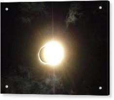Otherworldly Eclipse-leaving Totality Acrylic Print