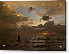 Otres Beach Sunset Acrylic Print