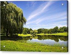 Otsiningo Park Reflection Landscape Acrylic Print by Christina Rollo