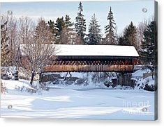 Ottaquechee Middle Bridge Acrylic Print by Susan Cole Kelly