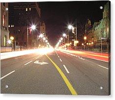 Ottawa Street At Night Acrylic Print by Richard Mitchell