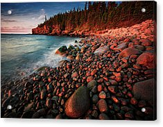 Acrylic Print featuring the photograph Otter Beach Main After The First Light  by Emmanuel Panagiotakis
