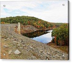 Otter Brook Dam In Autumn Acrylic Print