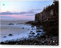Otter Cliff Awash Acrylic Print
