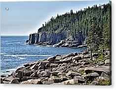 Otter Cliffs In Acadia National Park - Maine Acrylic Print