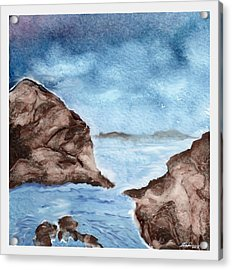 Otter Cove Acrylic Print by Beverly Johnson