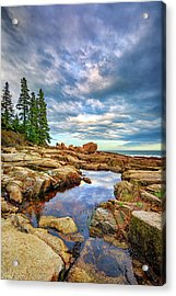 Otter Point Reflections Acrylic Print by Rick Berk