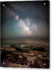 Otter Point Under The Stars. Acrylic Print by Brent L Ander