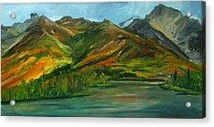 Otto Lake Acrylic Print by Amy Reisland-Speer