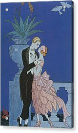 Oui Acrylic Print by Georges Barbier