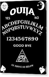 Ouija Acrylic Print by Nicklas Gustafsson