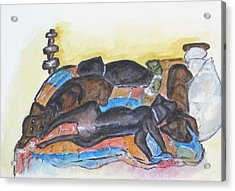 Our Bed Now Acrylic Print