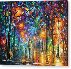 Our Best Friend  Acrylic Print by Leonid Afremov