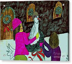 Our Christmas Goose Acrylic Print by Elinor Helen Rakowski