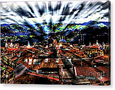 Our City In The Andes Acrylic Print by Al Bourassa