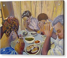 Acrylic Print featuring the painting Our Daily Bread by Saundra Johnson