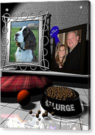 Our Dog Splurge Acrylic Print by Stuart Stone