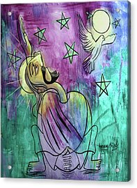 Our Father Who Art In Heaven Acrylic Print by Anthony Falbo
