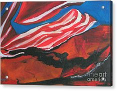 Our Flag Their Oil Acrylic Print by Patrick Mills