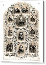 Our Generals -- Union Civil War Acrylic Print by War Is Hell Store