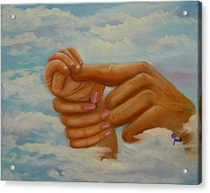 Our Hands Acrylic Print by Joni McPherson