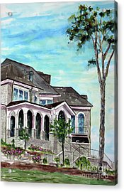 Our Home On The Hill Acrylic Print by Tim Ross