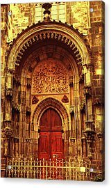 Acrylic Print featuring the photograph Our Lady Before Tyn 1. Architecture. Series Golden Prague by Jenny Rainbow