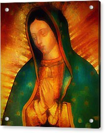 Our Lady Of Guadalupe Acrylic Print by Bill Cannon