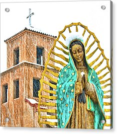 Acrylic Print featuring the photograph Our Lady Of Guadalupe by Britt Runyon