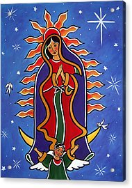 Acrylic Print featuring the painting Our Lady Of Guadalupe by Jan Oliver-Schultz