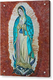 Our Lady Of Guadalupe Acrylic Print by Kerri Ligatich