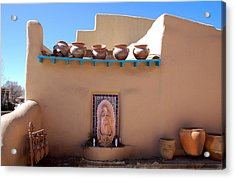Our Lady Of Guadalupe Shrine Taos Acrylic Print by Kathleen Stephens