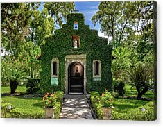 Acrylic Print featuring the photograph Our Lady Of Le Leche Chapel St. Augustine Florida   -   Ladyoflelechechapel122921 by Frank J Benz