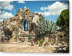 Our Lady Of Lourdes Grotto Acrylic Print