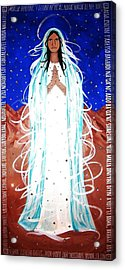 Acrylic Print featuring the painting Our Lady Of Lucid Dreams by Michelle Dallocchio