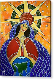 Acrylic Print featuring the painting Our Lady Of Mercy by Jan Oliver-Schultz