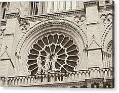 Our Lady Of Paris Acrylic Print by JAMART Photography