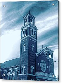 Our Lady Of Sorrows Under Wispy Skies Acrylic Print