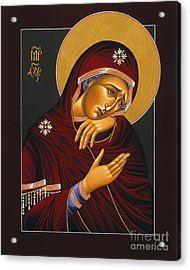 Acrylic Print featuring the painting Our Lady Of Sorrows 028 by William Hart McNichols