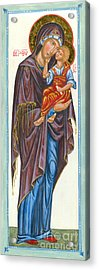 Our Lady Of Tenderness Acrylic Print by Juliet Venter