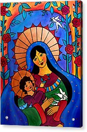 Our Lady Of The Garden Acrylic Print