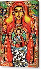 Acrylic Print featuring the painting Our Lady Of The Sign by Eva Campbell