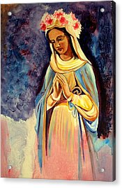 Our Lady Queen Of Mercy Acrylic Print by Sheila Diemert