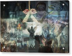 Our Monetary System  Acrylic Print by Eskemida Pictures