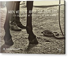 Our Partnership Quote Acrylic Print by JAMART Photography