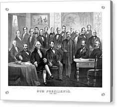 Our Presidents 1789-1881 Acrylic Print by War Is Hell Store