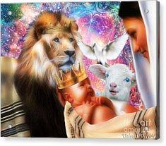 Acrylic Print featuring the digital art Our Saviors Birth by Dolores Develde