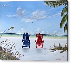 Our Spot On Siesta Key Acrylic Print by Lloyd Dobson