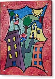 Our Town Acrylic Print by Jennifer Hernandez